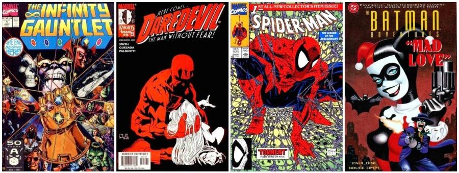 90s Comic Book Collage