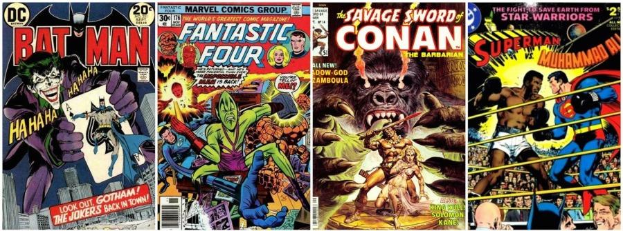 Best 70s Comics Collage