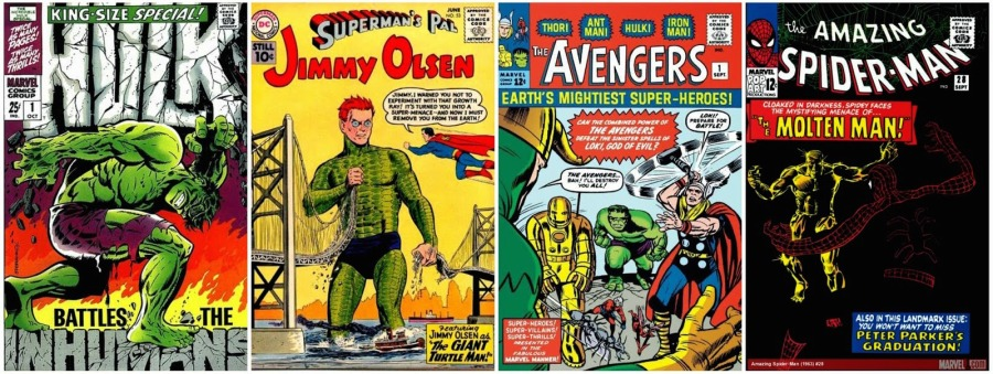 Comic Book Covers 60s Collage