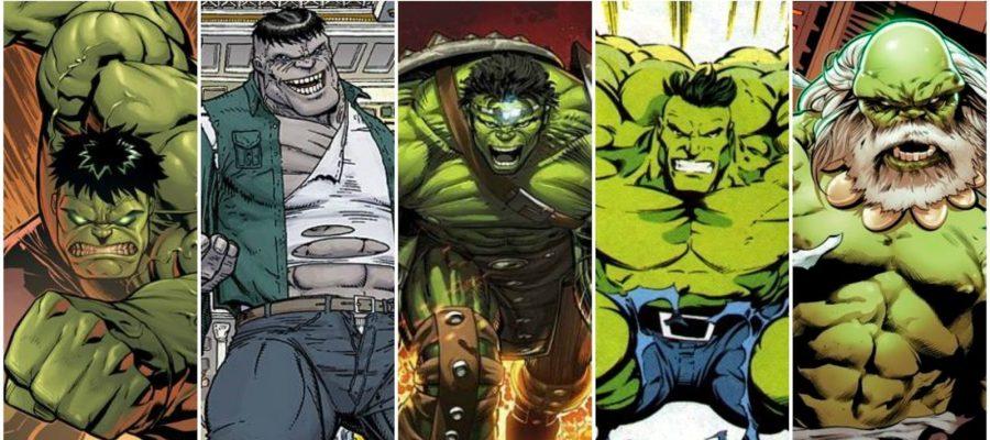 Hulk Versions Collage