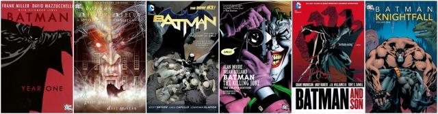 Essential Batman Reading Collage