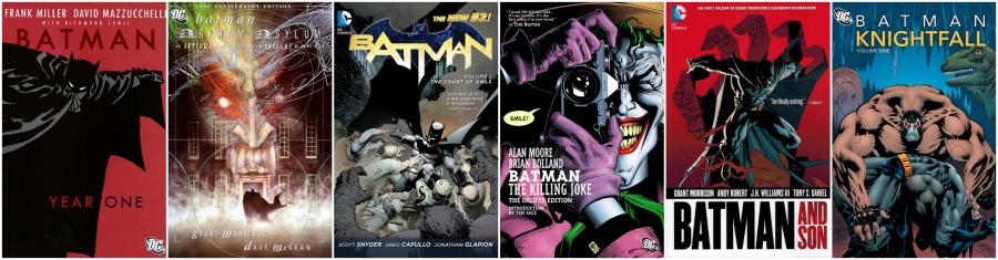 Essential Batman Reading Collage