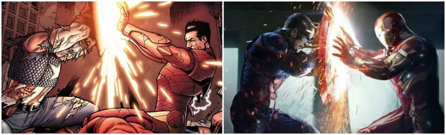 Captain America Civil War Comic Differences