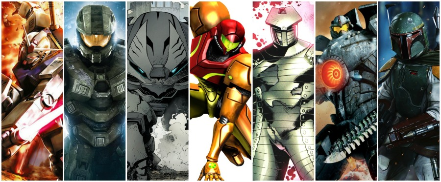 Fictional Armor Collage